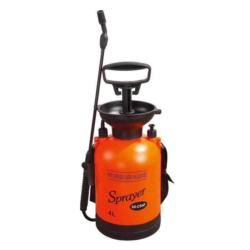 市下4L肩负式手动气压喷雾器园艺浇花浇水喷雾壶家用清洁洗车喷壶
