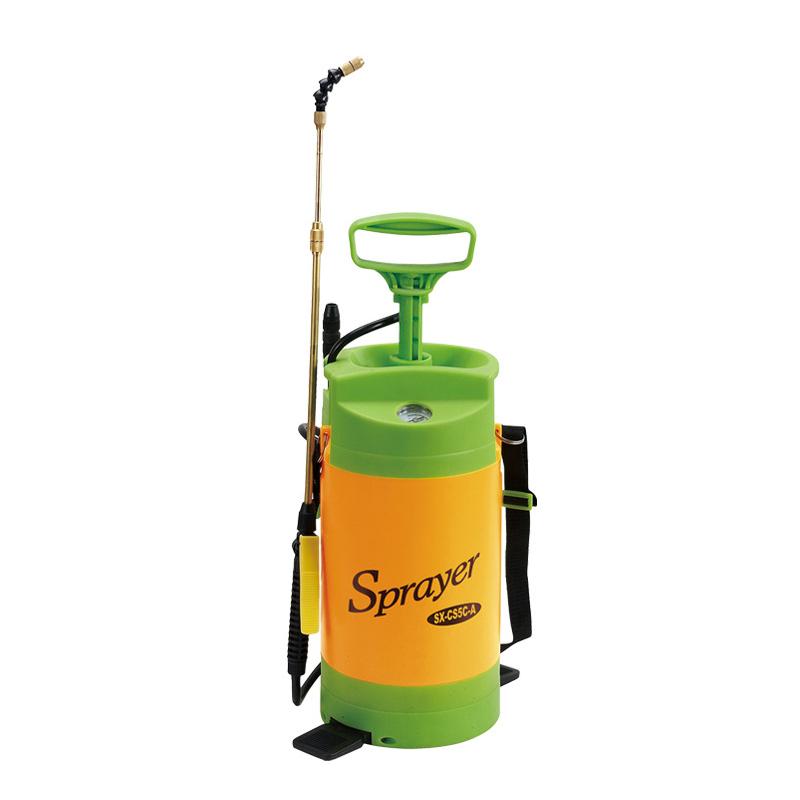 市下5L手动气压喷雾器 园艺浇花浇水喷雾壶 家用清洁洗车塑料喷壶