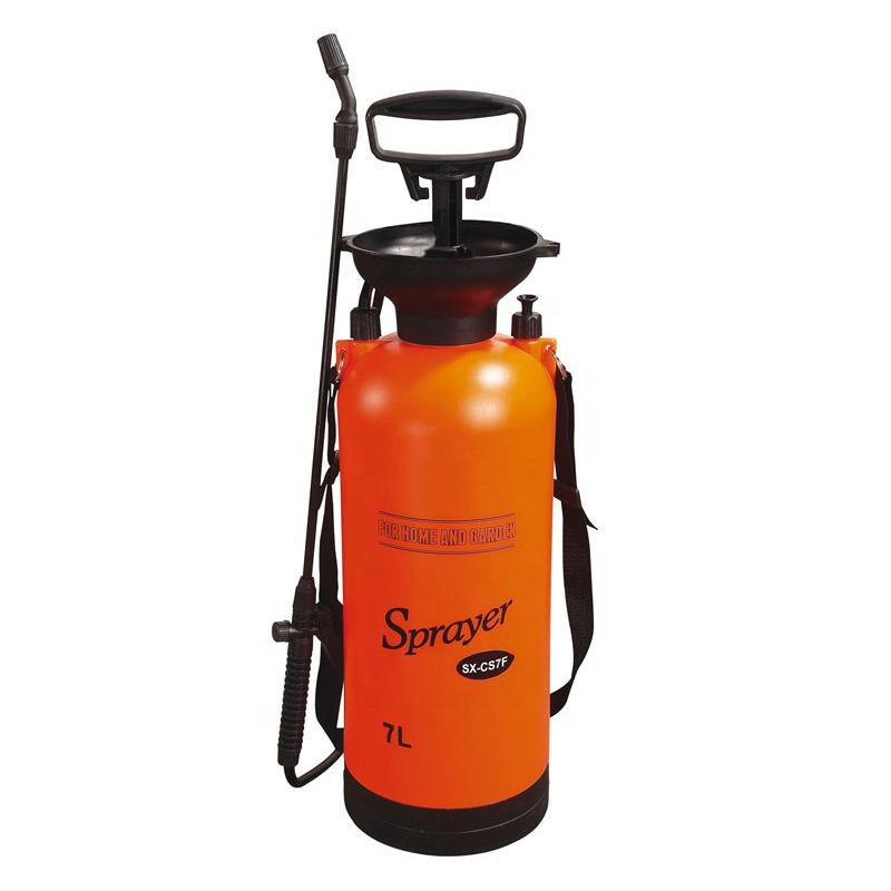 市下7L肩负式手动气压喷雾器园艺浇花浇水喷雾壶家用清洁洗车喷壶