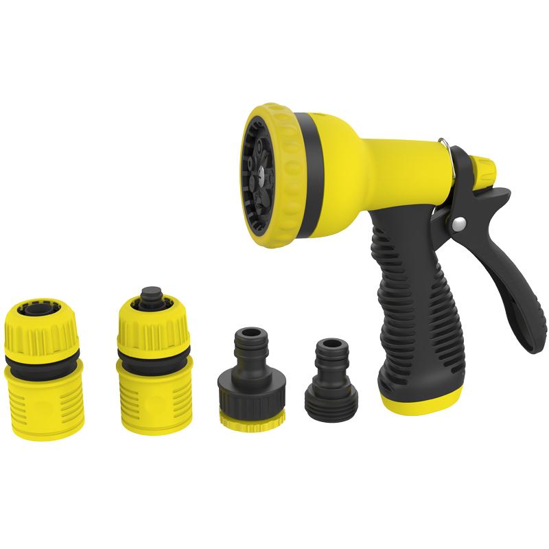 市下高压洗车水枪家用园艺多功能清洗喷枪浇花浇水灌溉冲洗喷水枪套装21010T3